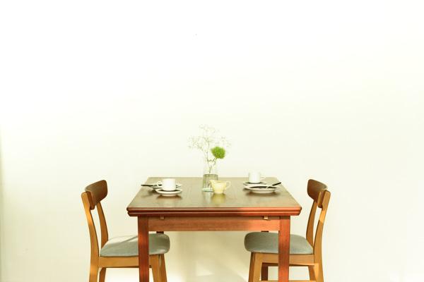 北欧家具 ダイニングテーブル エクステンション