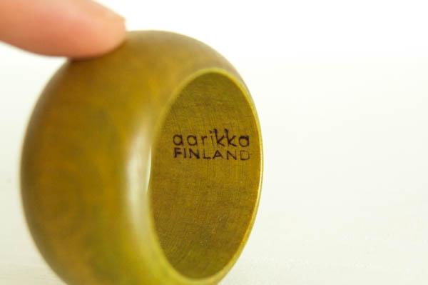 北欧雑貨 フィンランド aarikka ビンテージ エッグカップ ナプキンリング