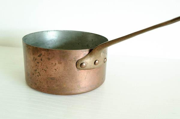 北欧雑貨 フィンランド フランス ビンテージ Metaux Ouvres Vesoul 片手鍋