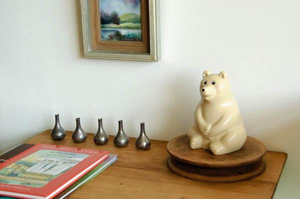 北欧家具 フィンランド 白くまの貯金箱 置き物