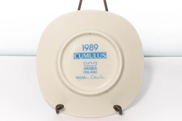 北欧雑貨 フィンランド アラビア Cumulus イヤープレート 1989