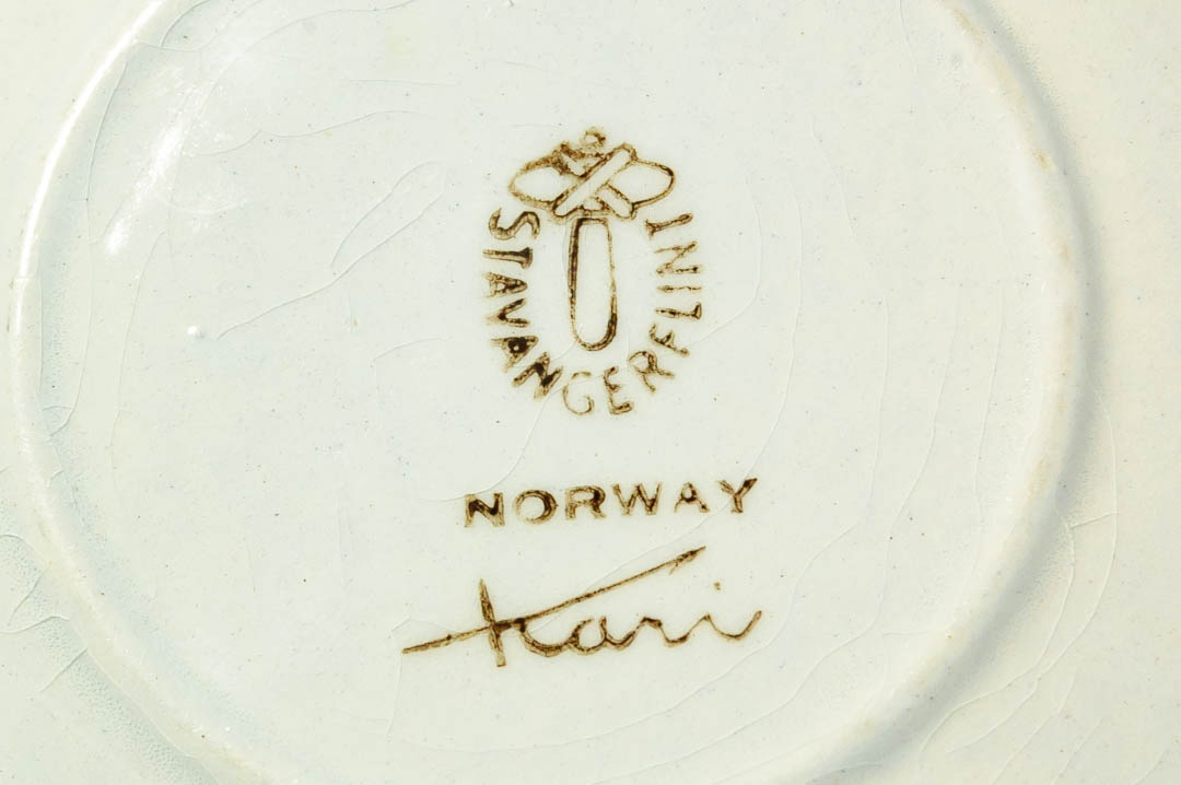 北欧雑貨 ノルウェー スタヴァンゲルフリント 絵皿 プレート Kari