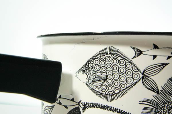 北欧雑貨 フィンランド FINEL Neptun エナメル 片手鍋 カイ・フランク エステリ・トムラ