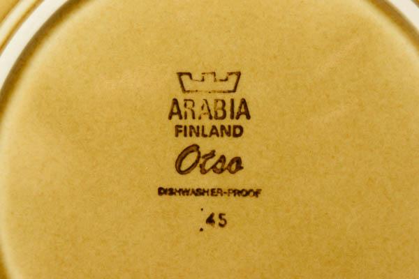 北欧雑貨 フィンランド ARABIA Otsa Ulla Procope プレート
