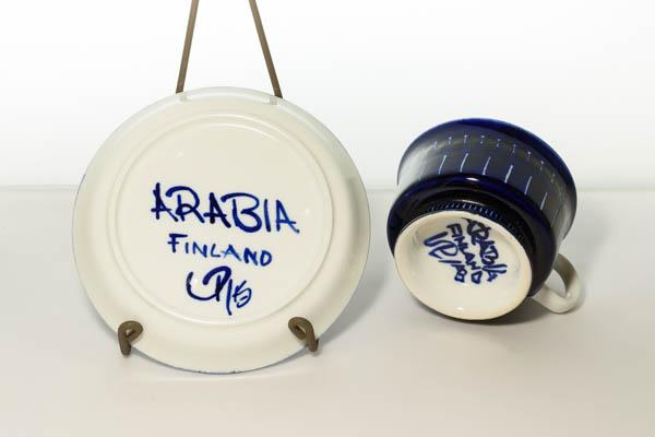 北欧雑貨 Finland ARABIA Valencia Ulla Procope カップ&ソーサー