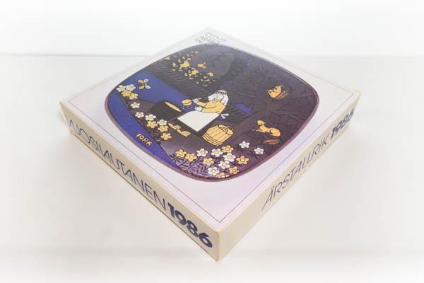 北欧雑貨 フィンランド ARABIA kalevala ビンテージ 1986 イヤープレート ライヤ・ウオシッキネン