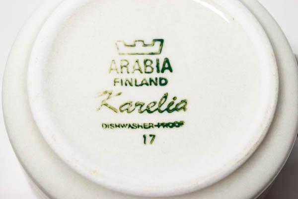 北欧雑貨 フィンランド ARABIA アラビア  Karelia カレリア カップ&ソーサー