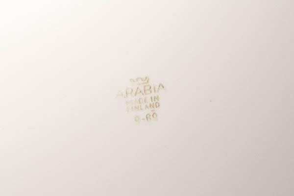 北欧雑貨 フィンランド ARABIA アラビア ビンテージ 白 プレート