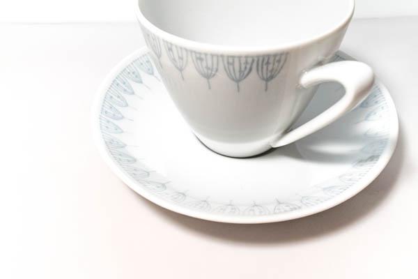 北欧雑貨 スウェーデン ウプサラ−エクビイ ビンテージ KARLSKRONA カップ&ソーサー