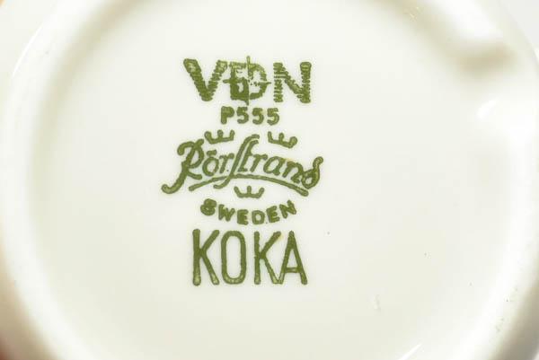 北欧雑貨 スウェーデン ロールストランド Hertha Bengtsson KOKA カップ&ソーサーとプレートセット