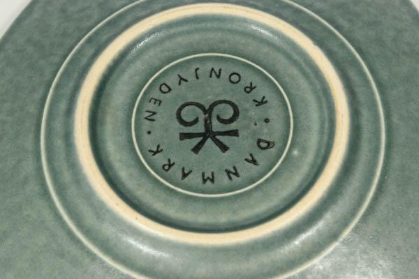 北欧雑貨 デンマーク KRONJYDEN Jens H.Quistgaard Azur カップ&ソーサー 八角