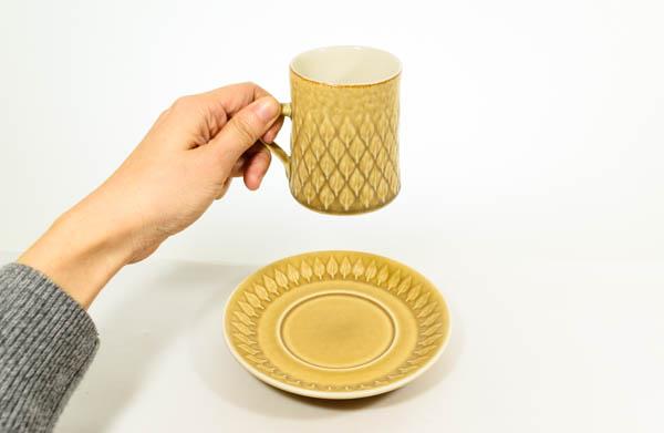 北欧食器 デンマーク KRONJYDEN Jens.H.Quistgaard Relief カップ&ソーサー