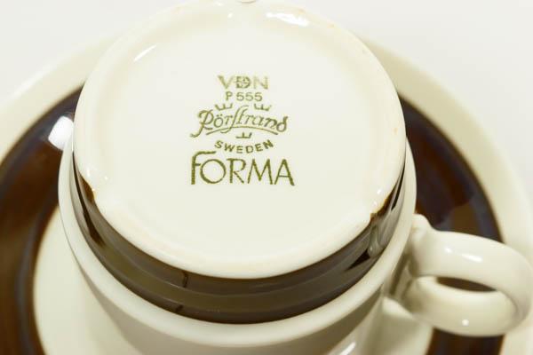 北欧雑貨 スウェーデン ロールストランド Olle Alberius FORMA カップ&ソーサー