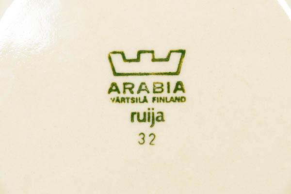 北欧雑貨 フィンランド ARABIA アラビア ビンテージ ruija raija uosikkinen カップ&ソーサー