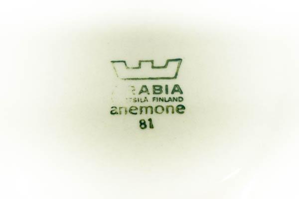 北欧雑貨 フィンランド ARABIA Anemone カップ&ソーサー