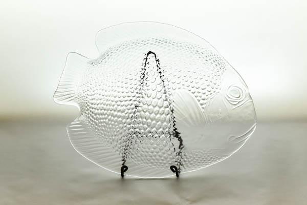 北欧雑貨 フィンランド France製 Arcoroc/アルコロック 魚のプレート