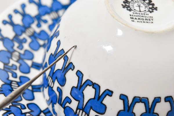 北欧雑貨 スウェーデン グスタフスベリ ビンテージ カップ&ソーサー