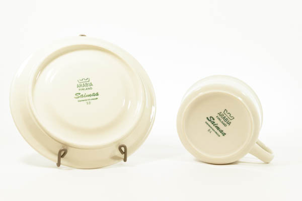 北欧食器 フィンランド アラビア Saimaa カップ&ソーサー