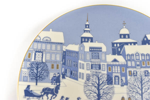北欧雑貨 フィンランド ARABIA アラビア ビンテージ 1987 イヤープレート ライヤ・ウオシッキネン